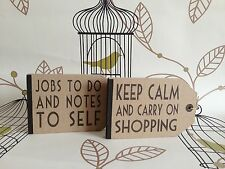 Vintage Label Style Retro Note Book Keep Calm Shabby Chic Gift East Of India