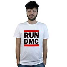 T-Shirt Run Dmc, maglietta bianca con logo Rap, Hip hop old school, anni 80