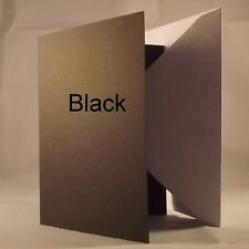 Black 5x7 Quality 240gsm Card Blanks select pack size 1st class FREE Postage