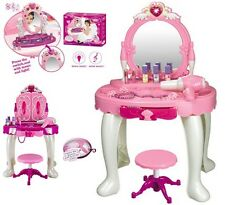 CHILDRENS DRESSING MIRROR TABLE GIRLS KITCHEN COOKING WORKBENCH TOOL PLAYSET NEW