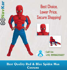Amazing Red and Blue Spiderman Costume with Muscles