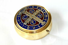 St Saint BENEDICT PYX Communion Hospital Catholic Box Come Holy Spirit JHS