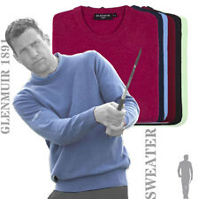 Glenmuir 1891 - GM011 -  Morar Lambswool Crew Neck Golf Sweater Jumper (6 Cols)