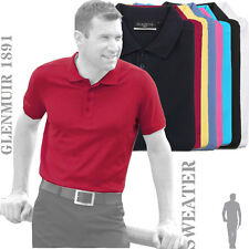 Glenmuir 1891 GM027 Kinloch Plain Colour 100% Cotton Golf Polo Shirt (9 Cols)