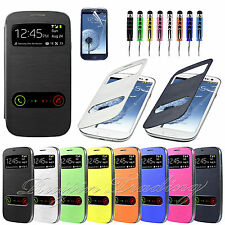 Slim Flip Battery Back Cover Case For Samsung Galaxy S3 Mini i8190 S3 i9300