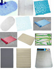 Bath Mat Anti Non Slip Shower Memory Foam Bathroom Pedestal Mat Pebbles Bubbles