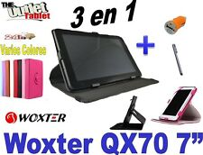 "FUNDA TABLET WOXTER QX70 7""  STAND Y GIRATORIA 360º + accesorios"