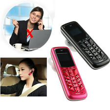 Mini Keyboard Bluetooth Headset Support SIM Card Ear-Hook LCD Cell Mobile Phone