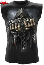 Spiral Direct GAME OVER Mens Sleeveless/Rock/Skull/Reaper/Metal/Horror/Top/Tee