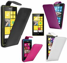 Flip Leather Case Cover Pouch & Screen Protector For Nokia Lumia  610