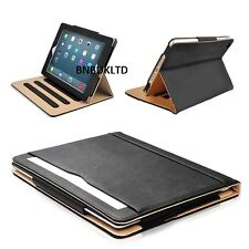 BLACK and & TAN stand Smart Magnetic Leather Case Cover for New Apple sleep wake