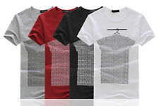 Mens Designing Style Shorts Sleeves Casual Cotton Top Soft T-Shirt Beach Summer