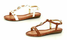 GIRLS SPOT ON T-BAR SANDALS WITH SKULL AND CROSSES H0124 (2 COLOURS) W