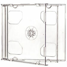 CD Double Jewel Cases 10.4mm for 2 Disc with Black or Clear Tray