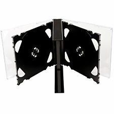 CD DVD 6 way Jewel Cases 25mm for 6 Disc with Black Tray 1 5 10 25 50 150 200 pk