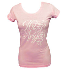 OFFICIAL Ibiza Angels: Script Logo Women's T-shirt Pink or Blue Marl RRP £60.00