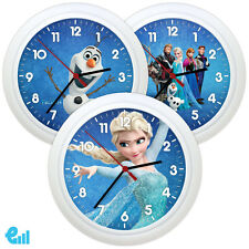 New FROZEN Wall Clock Personalised Childrens Gift Kids Bedroom Boy Girl Elsa