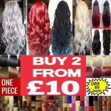 air Extensions Synthetic feels like Remy Human Clip in Hair Extensions