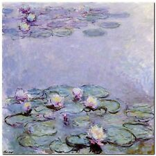 Quadro Claude Monet 'Water Lilies'  Stampa su Tela Canvas