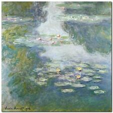Quadro Claude Monet 'Waterlilies'  Stampa su Tela Canvas