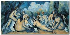 Quadro Paul Cezanne 'The Bathers (dettaglio)' Stampa su Tela Canvas