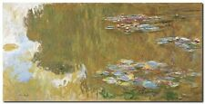 Quadro Claude Monet 'The Water Lily Pond' Stampa su Tela Canvas