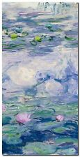 Quadro Claude Monet 'Waterlilies II' Stampa su Tela Canvas