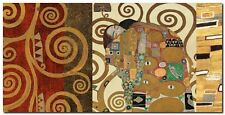 Quadro Klimt Patterns 'The Embrace (Gold) ' Stampa su Tela Canvas