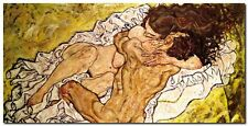 Quadro Egon Schiele 'The Embrace ' Stampa su Tela Canvas