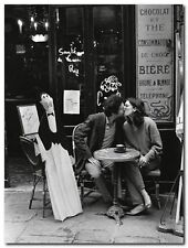 Quadro Peter Turnley 'Baci al Cafe Table, Parigi' Stampa su Tela Canvas