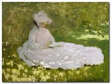 Quadro Claude Monet 'Primavera' Stampa su Tela Canvas