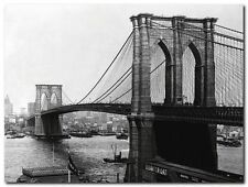 Quadro A. Loeffler 'Ponte di Brooklyn, New York' Stampa su Tela Canvas