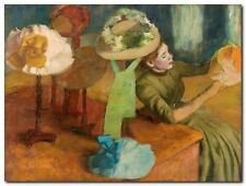 Quadro Edgar Degas 'The Millinery Shop' Stampa su Tela Canvas