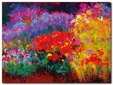 Quadro Gail Wells 'Flowerbed II' Stampa su Tela Canvas