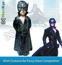Krish Costumes 4 Fancy Dress Competition Superhero Krrish Cape for Kids wid Mask