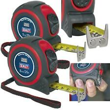 Sealey 5m or 8m Heavy Duty Tape Measure Rubber Body Auto Lock Measuring