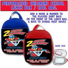 PERSONALISED RACING WARRIOR BMX MOTO X CHILDRENS SCHOOL LUNCH BOX COOL BAG ST254