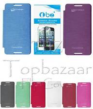 TBZ Flip Cover Case for Micromax Canvas Fire A104 with Screen / Tempered Opt