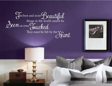 LOVE FELT BY THE HEART BEDROOM WALL ART QUOTE STICKER DECAL MURAL VINYL TRANSFER