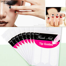 1/5/10 Paquet Tips Sticker Bandelette Guide Ongle French Deco Manucure Nail Art