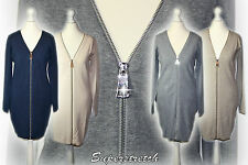 EDEL Feinstrick Superstretch Cardigan Strickmantel Jacke Kleid  Gr.36 38 40 42