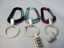 """Large """"D"""" Carabiner Aluminum Key Ring ~ Colors: Red, Black, or Silver NEW"""