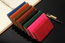 New GENUINE COOL 8 COLOUR LEATHER WALLET FLIP CASE FOR iPhone 6 6 PLUS