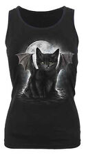Spiral Direct BAT CAT Razor Back Vest Top/Black Cat/Darkwear/Goth/Vampire/Top
