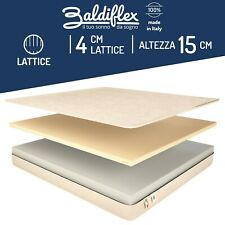 MATERASSO MATRIMONIALE 160X190 LATTICE ORTOPEDICO ANTIACARO EASY WATER LATEX