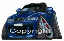 Koolart Car - BMW Z3 Blue Metal Keyring / Key Ring - 0015