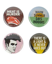 The Smiths Buttons! Morrissey, Meat Is Murder, There is a Light That Never Goes
