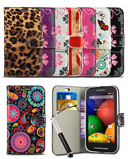 For Alcatel One Touch OT3040 Phone Pattern Flip Wallet Case Cover & Retractable