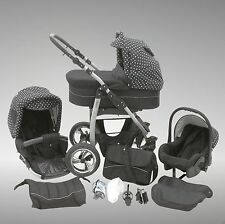 Leopard Dino 3 in 1 Travel System Pram with carseat