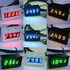 "LED Digital Voltmeter 0.30"" Panel-Meter Spannungsmesser 3 in 1 Thermometer Neu"
